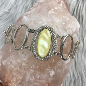 Jewelry - Mother of Pearl and Silver Bracelet